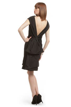 Black Bustle Bombshell Dress by Thakoon