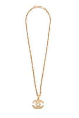 Vintage Chanel 95 Fretwork Fringe Necklace by WGACA Vintage