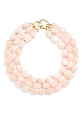 Trio Rose Quartz Necklace by Kenneth Jay Lane