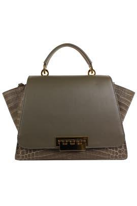 Olive Crocodile Eartha Handbag by ZAC Zac Posen Handbags
