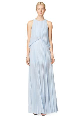 Shaina Pleated Gown by BCBGMAXAZRIA