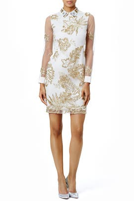 Marchesa Notte - Delicate Gold Sheath