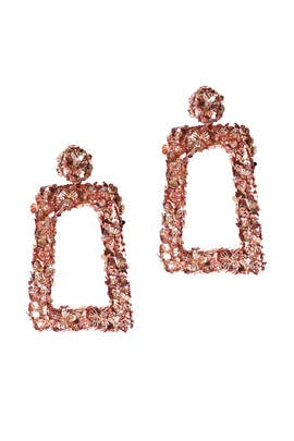 Rose Gold Fleur Dusk Earrings by Sachin & Babi Accessories