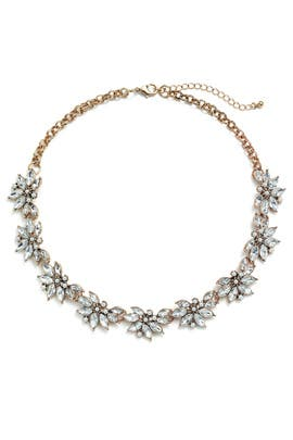 Delicate Crystal Floral Necklace by Slate & Willow Accessories
