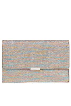 Rainbow Envelope Clutch by Loeffler Randall