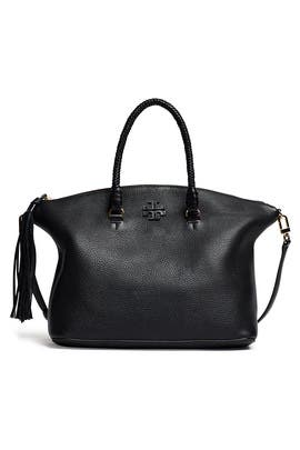 Black Taylor Satchel by Tory Burch Accessories