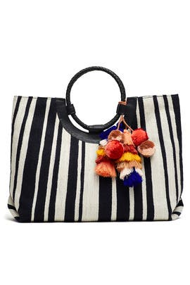 Striped Irene Tote by Cleobella Handbags