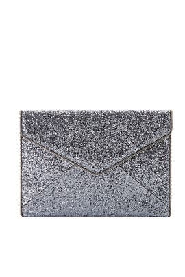 Silver Leo Clutch by Rebecca Minkoff Handbags