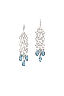 Blue Skies Chandelier Earrings by Jenny Packham