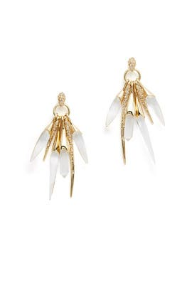 Rock Crystal Burst Post Earring by Alexis Bittar