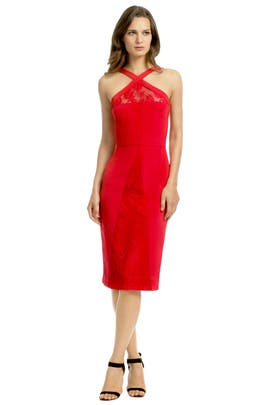 Cushnie Et Ochs - Red Venomous Lace Dress