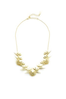Gold Spike Necklace by Noir Jewelry