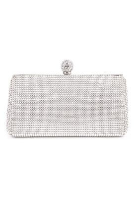 Whiting & Davis - Silver Mesh Glam Clutch