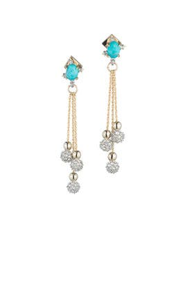 Turquoise Top Earrings by Alexis Bittar