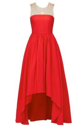 Red Precision Gown by Marchesa Notte