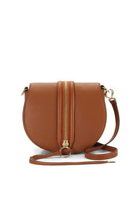 Almond Mara Saddle Bag by Rebecca Minkoff Handbags