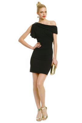 Badgley Mischka - Sliding Shoulder Dress