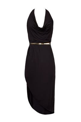 Halston Heritage - Black Scarface Dress