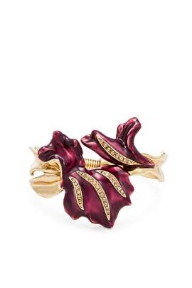 Purple Tulip Bracelet by Oscar de la Renta