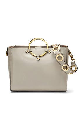 Taupe Ring Satchel by Rebecca Minkoff Accessories