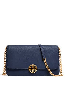 Navy Chelsea Crossbody by Tory Burch Accessories