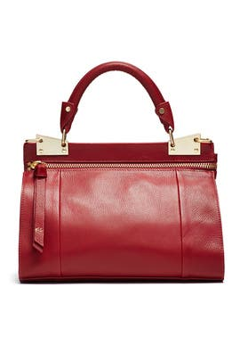 Red Dione Mini Messenger Bag by Foley + Corinna