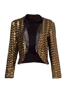 Geometric Gold Jacket by Hunter Bell
