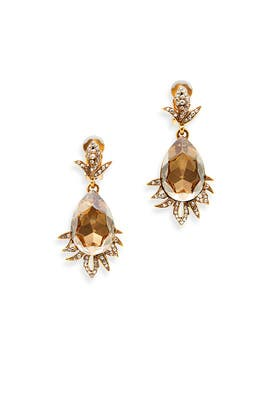 Gold Shadow Earrings by Oscar de la Renta