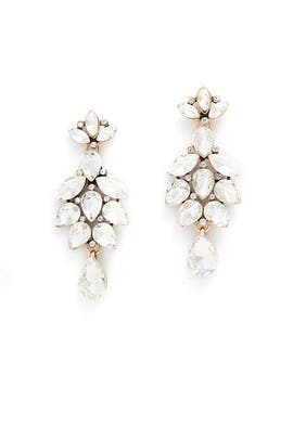 Crystal Teardrop Statement Earrings by Slate & Willow Accessories