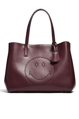 Burgundy Ebury Shopper Tote by Anya Hindmarch