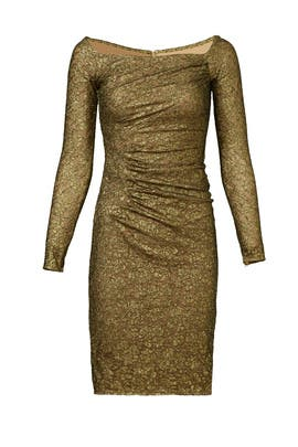 Gold Idol Dress by Carmen Marc Valvo