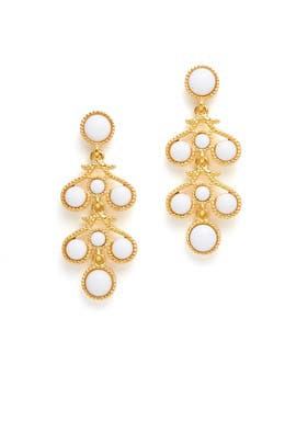 White Gold Filigree Earrings by Kenneth Jay Lane