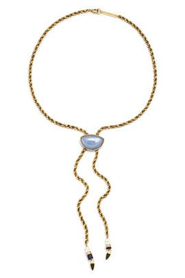 Angelite Minimal Luxe Necklace by Lizzie Fortunato