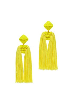 Yellow Tassel Dupio Earrings by Sachin & Babi Accessories
