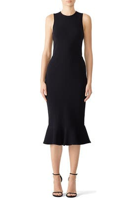 Dark Refined Flutter Dress by Opening Ceremony
