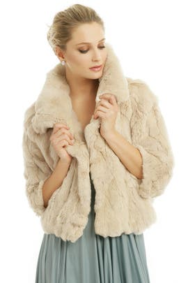 Pearl Rabbit Jacket by Adrienne Landau