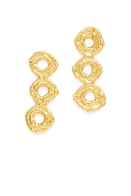 Gold Organa Earrings by Alexandra Koumba