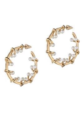 Eddie Borgo - Pierced Barbell Hoop Earrings