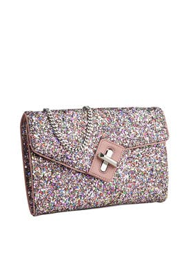 ela Handbags - Glitter Mini Milck Clutch