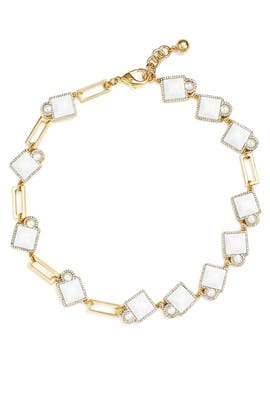 White Stone Mary Necklace by Lulu Frost