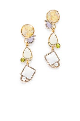 White Stone Marianne Earrings by Lulu Frost
