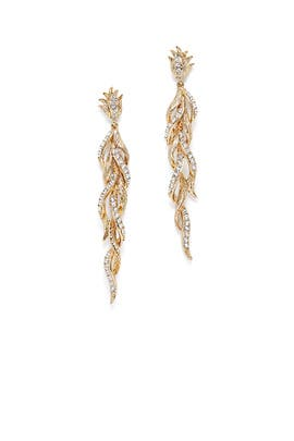 Hummingbird Feather Earrings by Marchesa Jewelry