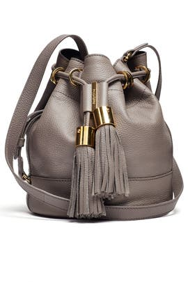 Grey Vicki Small Leather Bucket Bag by See by Chloe Accessories