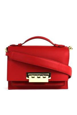 Red Earthette Bag by ZAC Zac Posen Handbags