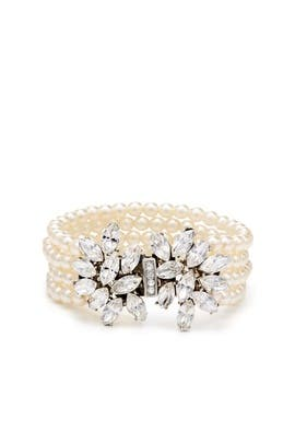 Crystal Bouquet Pearl Bracelet by Ben-Amun