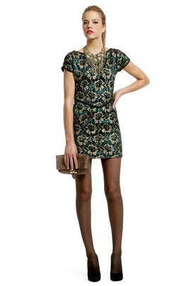 Radenroro - Golden Leaf Teacup Dress