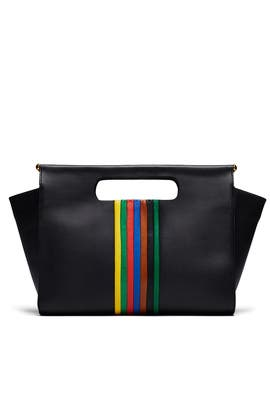 Rainbow Stripe Maude Clutch by Clare V.