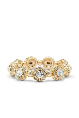 Gold Crystal Stretch Bracelet by Slate & Willow Accessories