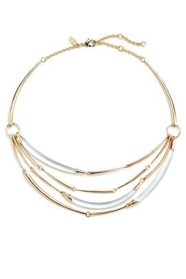Lucite Liquid Hinge Bib Necklace by Alexis Bittar