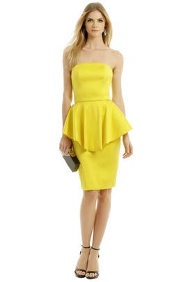 Mellow Yellow Sheath by Christian Siriano